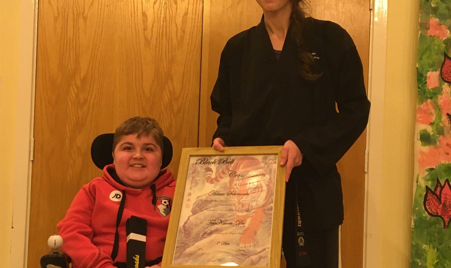 Adam Champ adam - taekwondo champ! - action duchenne
